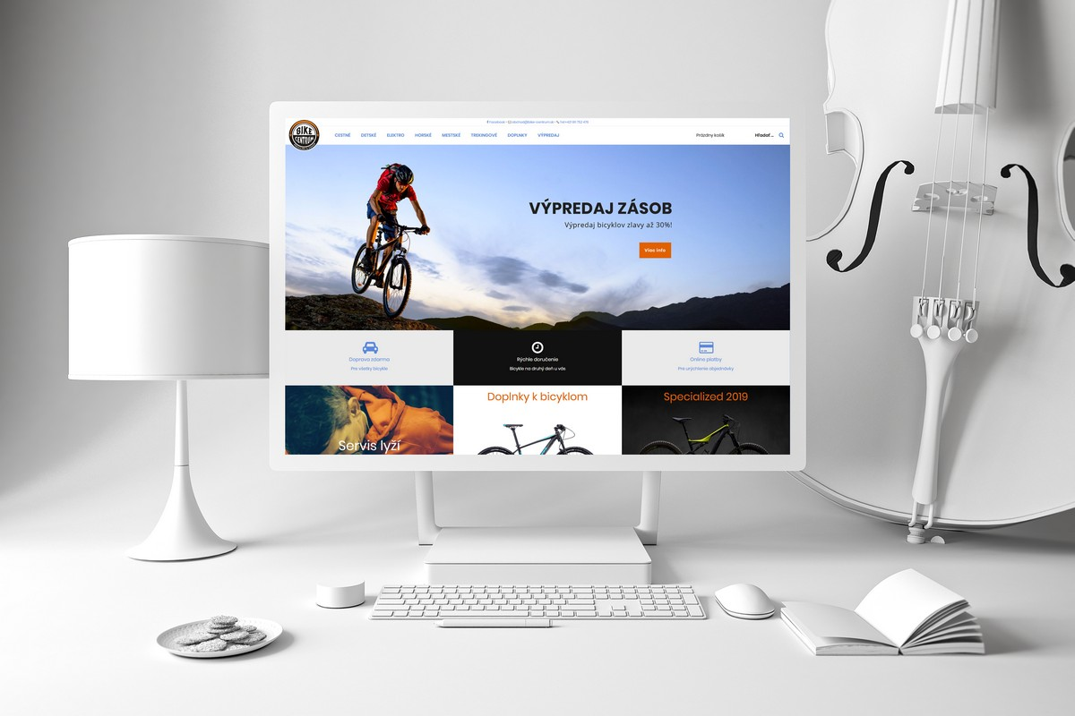 Webdesign‎ Bike Centrum e-shop